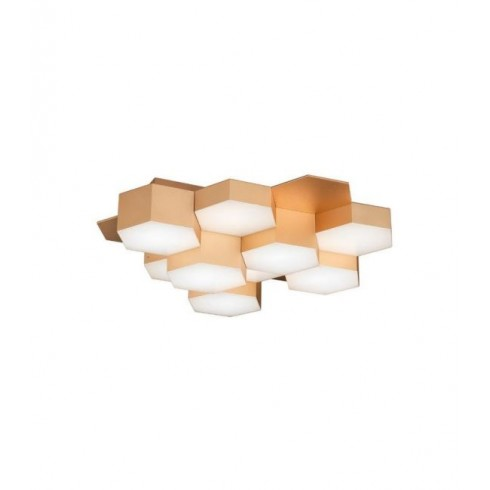 Pettine Ceiling 43W LED Gold