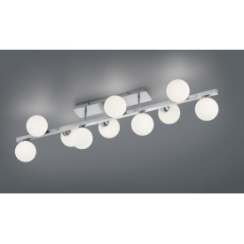 Alicia Ceiling Long White/Nickel 10xG9